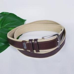 NAUTICA Handcrafted Canvas Leather Belt EU…